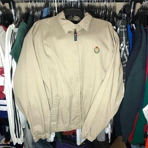 Chaps Ralph Lauren Khaki Jacket Large Full Zip